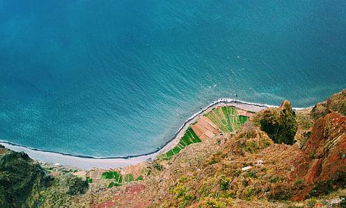 partvonal, tengerpart, parti, közúti, elérési út, Aqua, víz