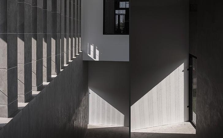gebouw, Indoor, door de galerie, ingebouwde structuur, het platform, geen mensen, dag