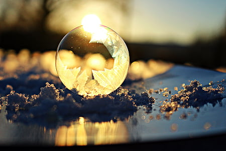 Free Photo Soap Bubble Frost Blister Eiskristalle Snow