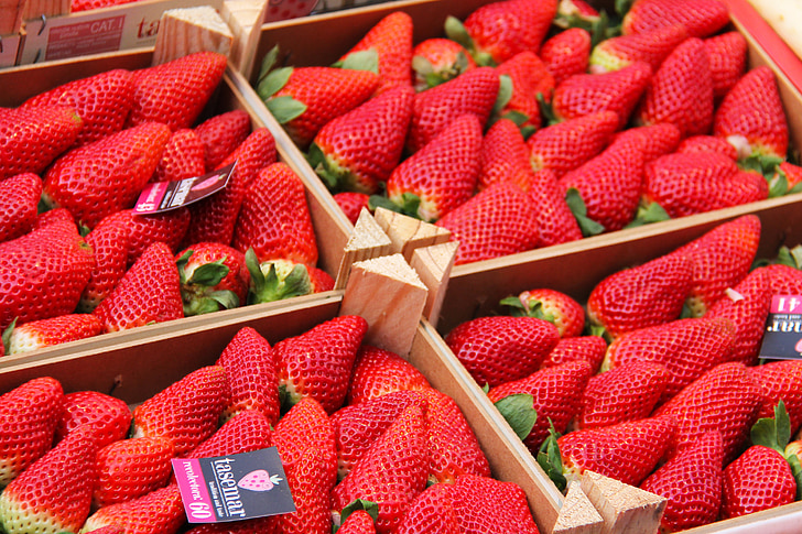 fruites, maduixes, vermell, sucoses, deliciós, deliciós, saborosa