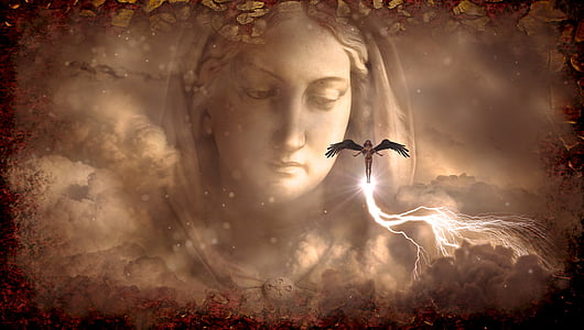 angel, fantasy, female, woman, figure, mystical, atmosphere
