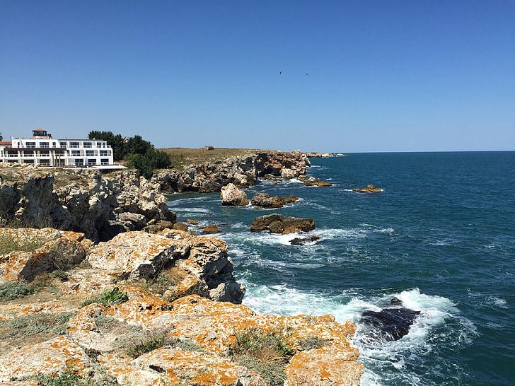 tyulenovo, Mar Negre, natura, cel, l'estiu, Costa, relaxar-se