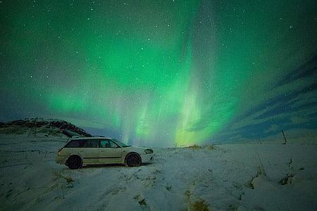 verde, Aurora, Borealis, naturaleza, estrellas, Aurora Boreal, constelación