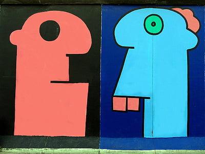 graffiti, fal, művészi, szín, Street art, Berlin