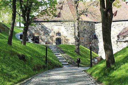 Oslo, Norge, Akershus festning, fästning, staden, sommar, Scandinavia