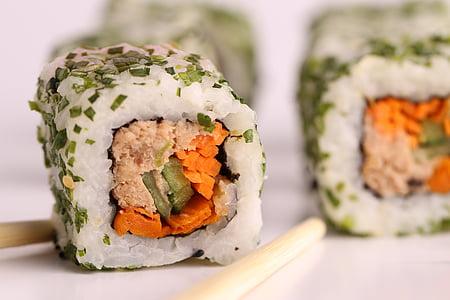 sushi, peix, Japó, aliments i begudes, alimentació saludable, menjar japonès, close-up