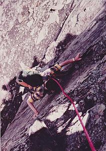 mountaineer, rock wall, mountaineering, rock, backup, climb, climber