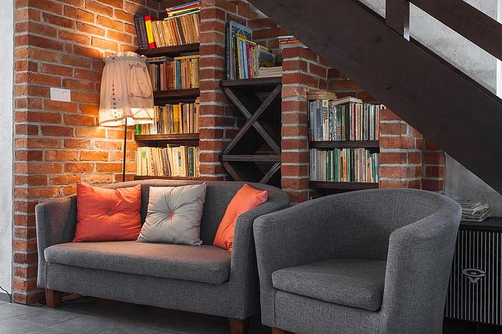 climate place, furniture, restaurant, rustic, book, convenience, sofa