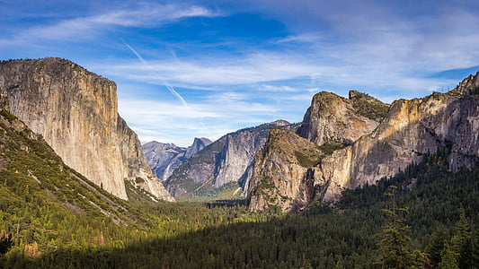 forest, landscape, mountains, nature, valley, woods, mountain