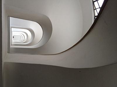 trepikodade, trepid, valge, trepp, trepp, trepp, arhitektuur