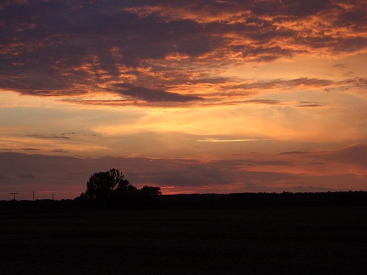 Sunset, abendstimmung, Twilight, valo