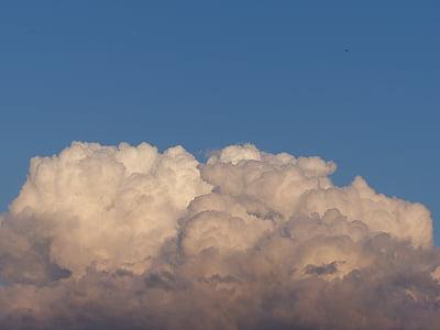 เมฆ, ท้องฟ้า, สีฟ้า, พระอาทิตย์ตก, คราม, ท้องฟ้าที่ครอบคลุม
