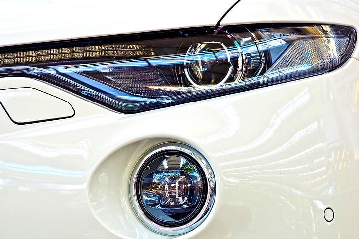 automatisk, Spotlight, lampe, lys, Bilen frontlysene, light emitting diodes lysemitterende, bil