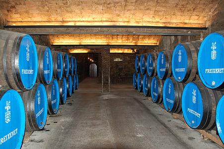vinkällare, vin fat, vin, Spanien, fat, Winery, alkohol