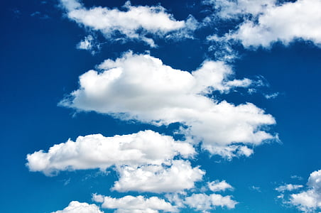 небе, облаците, природата, облачно небе, мътен, фон, синьо