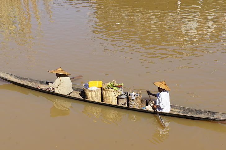 vietnam, asia, river, boot, vietnamese, rowing, mekong river