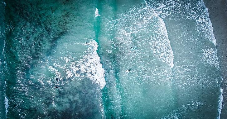 sjøen, hav, vann, bølger, natur, blå, bølge