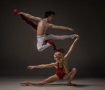 man, woman, dancing, nightime, dance, ballet dancer, skill