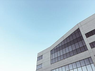 edifici, Oficina, edifici d'oficines, negoci, vidre, exterior, exterior d'edifici oficina