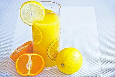 jook, Citrus, külm, jook, toidu, värske, puu
