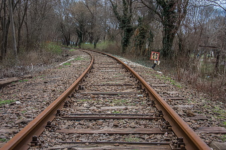 tog, veien, transport, transport, reise, jernbane, jernbanen