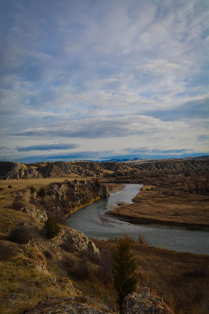 riu Missouri, riu, Montana, cel