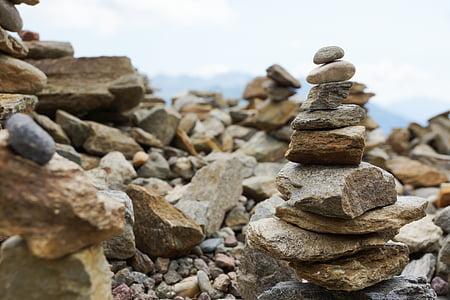 balance, stones, meditation, rest, stone tele, stone tower, turret