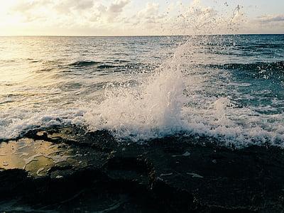 fotografia, esquitxades, oceà, ona, Mar, l'aigua, ones del mar