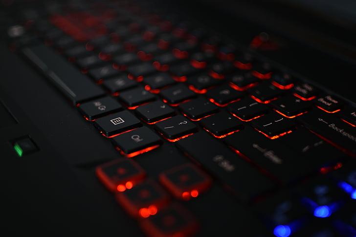 teclat, ordinador, portàtil, equips, electrònica