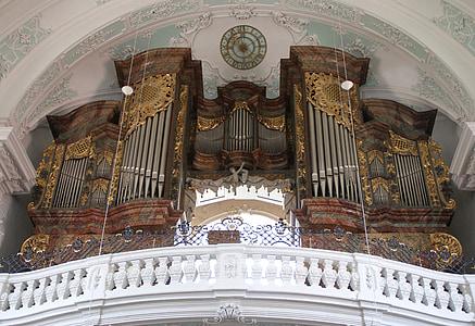òrgan, Basílica, vierzehnheiligen, l'església, cristiana, francs suïssos, Alemanya