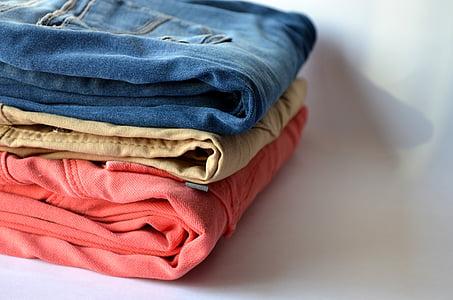 裤子, 洗衣, 服装, 衣服, 纺织, 服装, 做家务