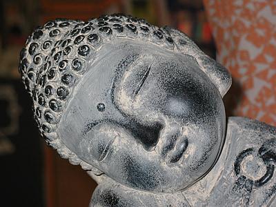Buda, budisme, meditació, figura de pedra, religió, espiritual, Zen