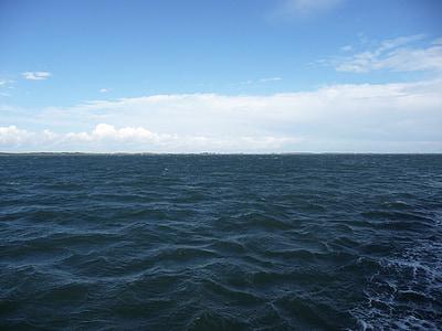 открытое море, Северное море, волна, мне?, воды, Природа, облака