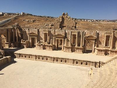 Jordanien, turism, mitten, öster, land, resor, landskap