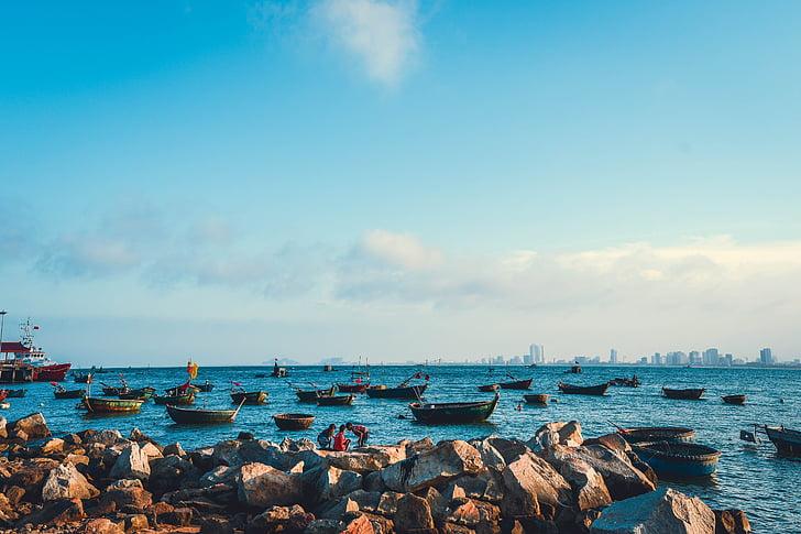 пляжа Дананг, берег Вьетнама, закат пляж вьетнамский