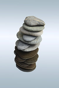 stones, balance, meditation, tower, stacked, isolated, background