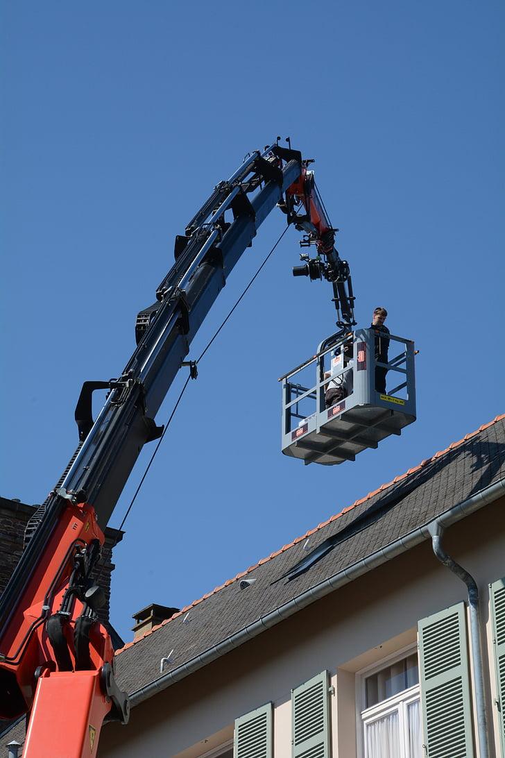 szakmai, Lift, kék ég, az oldalon, Rennes