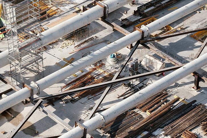 arquitectura, edifici, construcció, acer, metall, indústria, canonada