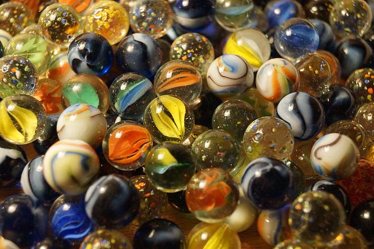 мраморы, шарики, Стеклянный шар, стеклянные шарики, красочные, Цвет, украшения