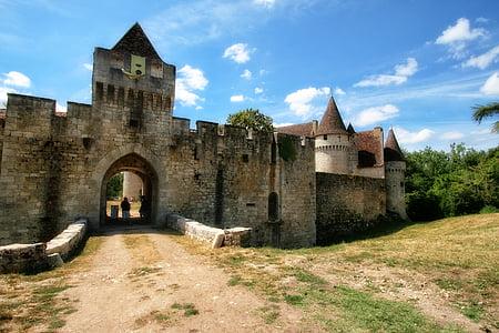 França, Dordonya, Perigord, Castell bridoire, Castell, arquitectura, fort