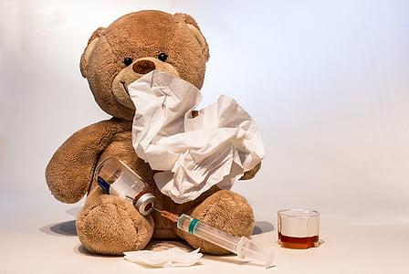 感冒, 流感, 生病了, 注射器, 流感疫苗接种, 接种, 作出规定