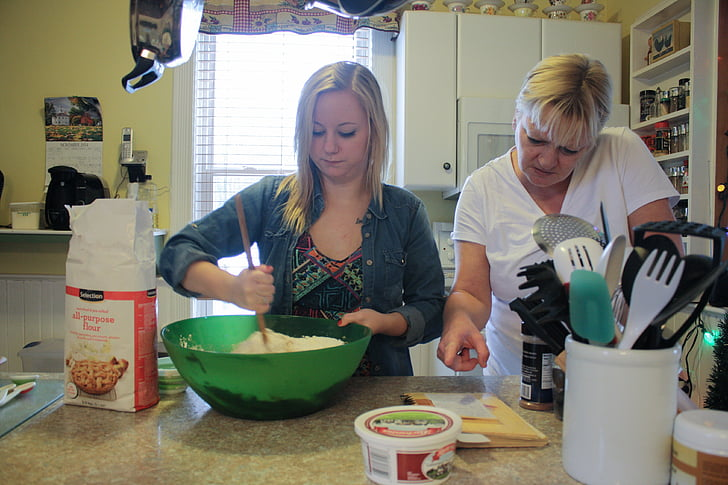 õde, Tüdruk, küpsetamine, Küpseta, Sega, Mix, pere