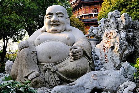 Smějící se buddha, socha, Čína, náboženství, Asie, Buddhismus, Buddha