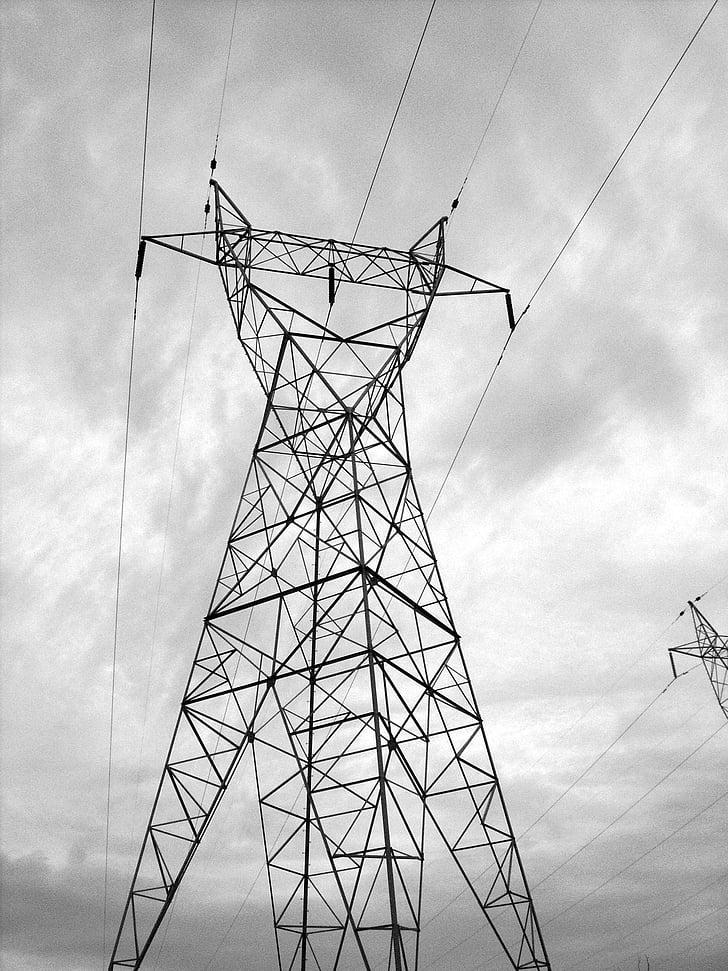 elektri, Tower, võimsus, tööstus, Ilm, torm, torn