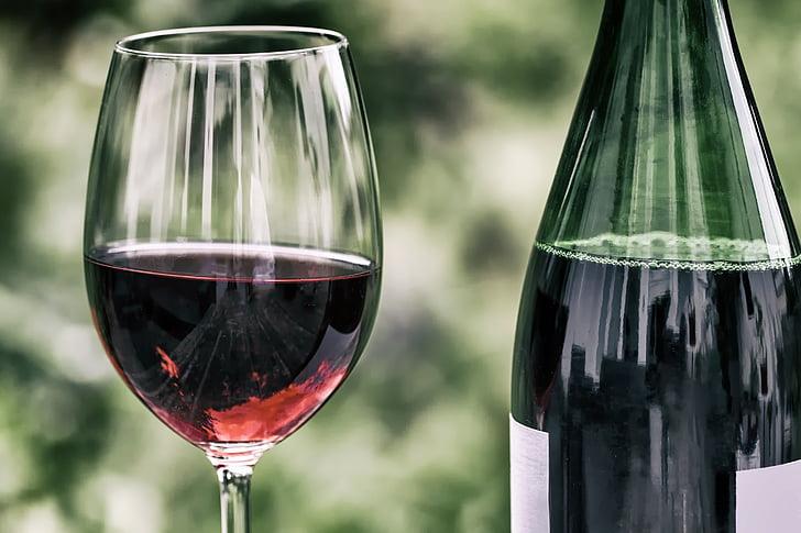 wine, retro, wine glass, wine bottle, red wine, glass, alcohol