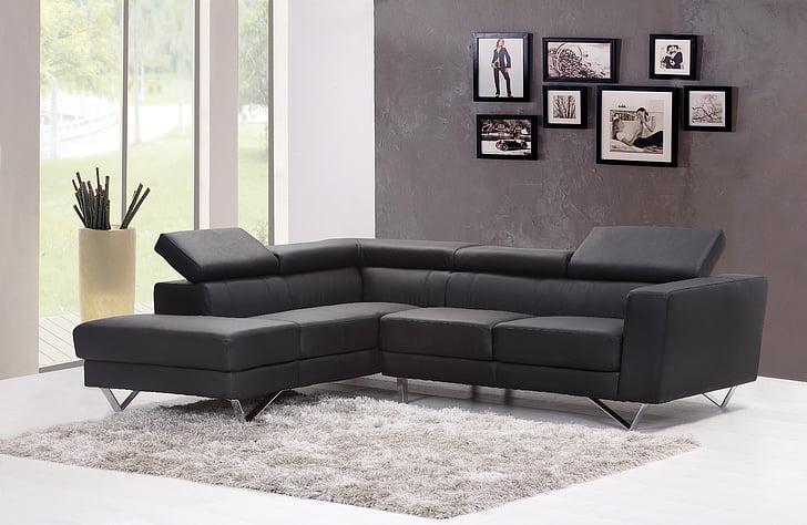 kauč, kauč, dnevni boravak, Naslovnica, Interijer, tepih, moderne