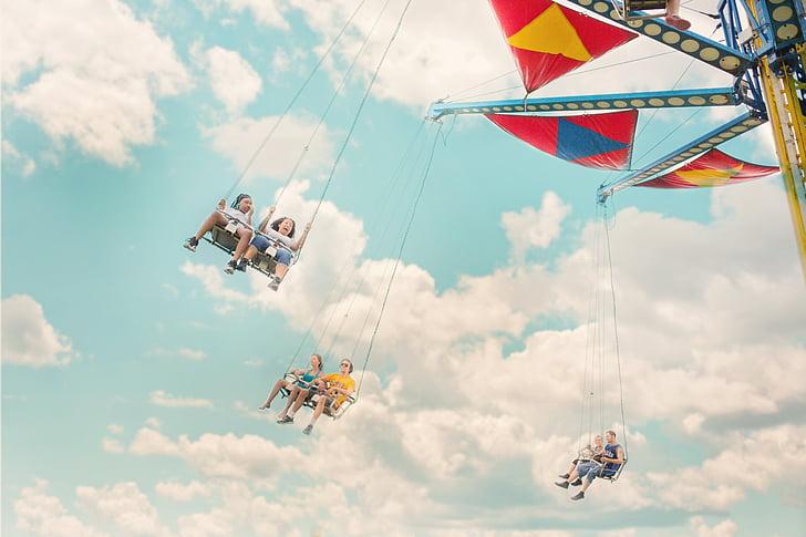 atraccions, Parc, passeig, Carnaval, entreteniment, l'estiu, infantesa