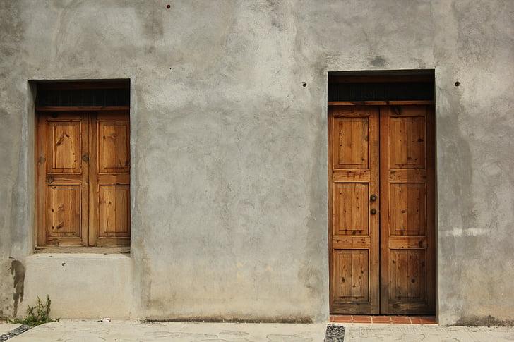 dveře, okno, mimo, budova, Domů Návod k obsluze, dům, Mexiko