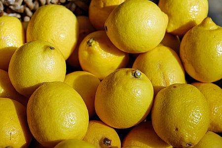llimones, groc, fruita, pastís, refresc, cítrics, vitamines