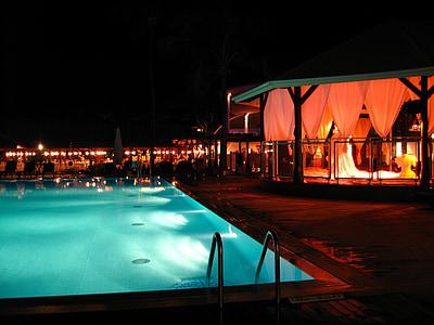 Bar, Wasser, Pool, Nacht